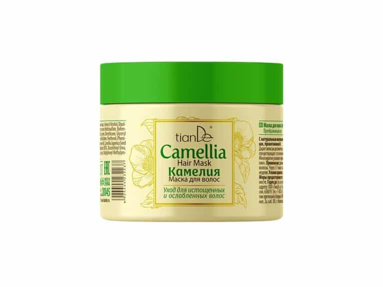 ucurați-vă de parfumul minunat, textura mătăsoasă și efectul surprinzător al măștii de păr cu extract de camelie. Acesta este al treilea produs din linia încântătoare de îngrijire a părului cu ingrediente exotice valoroase din Țara Soarelui Răsare. Îmbogățită cu ulei de semințe de camellia, ulei de arbore de unt de shea și provitamină B5, masca asigură o îngrijire suplimentară pentru părul slăbit, deteriorat și epuizat. Aceasta îi va da hrană suplimentară, va facilita coafarea, va oferi elasticitate și va preveni efectul static. Extractul de semințe Camellia oleifera reduce producția glandelor sebacee, menținând părul curat pentru o perioadă lungă de timp. Extractul de semințe camelie japoneză hrănește și întărește bulbii de păr, intensifică creșterea și previne căderea părului. Pantenolul ajută la vindecarea microfisurilor de pe suprafața pielii, are proprietăți excelente de regenerare și hidratare. Uleiul de semințe de unt Shea îmbogățește pielea cu vitaminele A, E și F. Vitaminele A și E ajută la menținerea pielii tinere, împiedicând apariția ridurilor premature și a liniilor de expresie și are un efect fotoprotector împotriva UV. Utilizare: Aplicați uniform pe părul curat și umed. Lăsați masca timp de 10-15 minute apoi clătiți bina cu apă caldă. Utilizați-o de 1-2 ori pe săptămână.