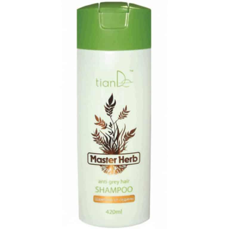 Stimulează formarea melaninei, restabilește pigmentarea naturală a părului, previne apariția firelor de păr gri. Acțiunea combinată a ingredientelor sale active conferă energie și vitalitate rădăcinilor părului, stimulează activitatea foliculilor de păr și conduce la creșterea părului gros si sănătos. Biocomplexul exclusiv împotriva îmbătrânirii combate îmbătrânirea, consolidează protecția naturală a scalpului și ajută la restabilirea pigmentării părului, revenind la un luciu sănătos. Utilizarea regulată a șamponului permite celulelor să crească producția pigmenților care asigură culoarea naturală a părului. Extractul de rădăcină de Ashitaba conține acizi organici și fitosterol, care blochează durerea, mâncărimea și inflamația și întăresc structura membranelor celulare. Rădăcina de Ginseng are proprietăți tonice, imunostimulatoare și antioxidante, de asemenea are capacitatea de a proteja organismul de toate tipurile de stress. Extractul de rădăcină de ginseng chinezesc activează microcirculația în scalp, îmbunătățește hrănirea foliculilor piloși, reduce pierderea părului. Extractul de rădăcină de leuștean de Szechuan are un efect benefic asupra părului, reduce pierderea sa, face părul mătăsos, lucios și ușor de manevrat. Nu conține agenți de colorare. Utilizare: Aplicați șamponul pe părul umed, masați, apoi clătiți.