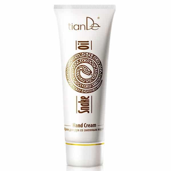 Crema hidratează intens, hrănește, regenerează rapid pielea deteriorată și îi activează protecția naturală, elimină iritațiile și înmoaie pielea dură cu crăpături. Rezultatul este o piele netedă și catifelată. Uleiul extras din șarpele Mamushi are efect de înmuiere și antiseptic asupra pielii, o hrănește, alimentează rezervele de acizi grași esențiali ai pielii, stimulează proprietățile regenerative ale pielii, ameliorează uscăciunea și iritația. Extractul din frunze de Aloe calmează, înmoaie și hidratează pielea, stimulează regenerarea, îmbunătățește elasticitatea, șterge liniile fine.Acidul stearic curăță, restabilește mantaua lipidică a pielii, îmbunătățește elasticitatea pielii. Alantoina are un efect de regenerare, înmoaie și calmează pielea, protejându-l de impactul negativ al factorilor externi.Utilizare: Aplicați crema pe pielea curată a mâinilor.
