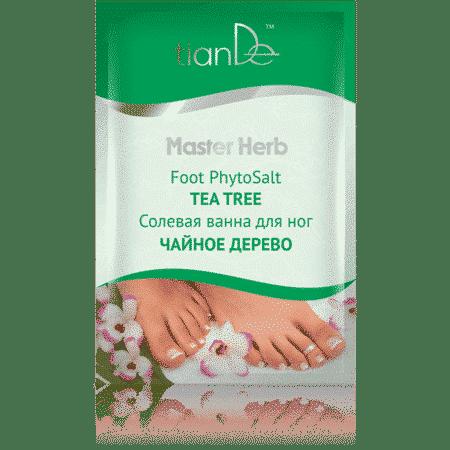 Sarea de baie pentru picioare cu uleiuri esențiale de arbore de ceai și extract de ceai verde oferă o ușurare a senzației picioarelor obosite și grele. Oferă un sentiment de luminozitate picioarelor, înmoaie și hrănește pielea, normalizează transpirația, deodorifică și are un efect antiseptic. Sarea de mare curăță pielea, o hrănește cu microelementele necesare, activează metabolismul, mărește tonusul și elasticitatea pielii și o face mai catifelată. Extractul din frunze de ceai verde are proprietăți antioxidante și antimicrobiene. Curăță și hidratează, împiedică apariția iritației pielii. Uleiul din frunzele arborelui de ceai este un antiseptic natural și are proprietăți antioxidante. Utilizare: Dizolvați conținutul pachetului într-un lighean cu apă caldă.Ține-ți picioarele în baia de sare timp de 15-20 de minute.