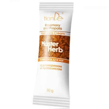 Datorită formulei sale bogate, crema hrănește, hidratează și înmoaie pielea piciorului, împiedicănd-o să devină dură și oferă îngrijirea necesară de la vârfuri la genunchi. Extrasele de rozmarin și propolis au efect dezodorizant, ajutând pielea să se detoxifice. Extractul de mentă deodorizează și oferă o senzație plăcută de răcorire. Crema va deveni o comoară neprețuită pentru cele care poartă tocuri înalte sau care stau în picioare pentru o lungă perioadă de timp, deoarece reduce efectele unei zile dificile, reîmprospătează pielea și îi reface tonusul. Propolisul are un efect bactericid și antiseptic. Acesta este cunoscut din timpuri străvechi ca mijloc de vindecare a rănilor minore. Extractul de rozmarin asigură un efect antiseptic. Uleiul esențial de mentă dă un sentiment plăcut de răcoare și calmează pielea, ameliorează mâncărimea și are proprietăți antimicrobiene. Uleiul de măsline verzi conține acizi grași esențiali pentru piele, care sunt perfect asimilați, îmbunătățește tonusul și netezește linii fine.