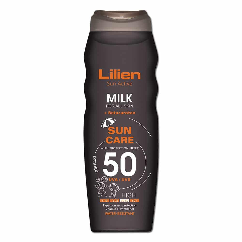 Cremă specială de plajă rezistentă la apă cu SPF 50, cu factor de protecție complex UVA, UVB și UVC, permite o expunere solară fără deteriorarea pielii. Factorul de protecție înalt – SPF 50 – asigură o expunere lungă și sigură la soare. Conține 4 ingrediente care o transformă în crema ideală pentru plajă: alantoină, pantenol, vitamina E si betacaroten, substanțe cu rol regenerant al pielii și de protecție împotriva radiațiilor ultraviolete.